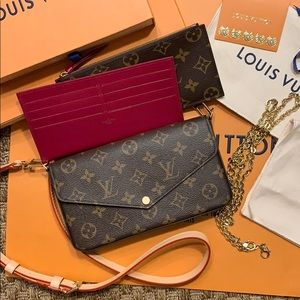 Louis Vuitton Felicie with inserts & 2 straps